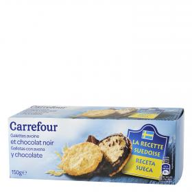 Carrefour galleta sueca avena chocolate de 150g.