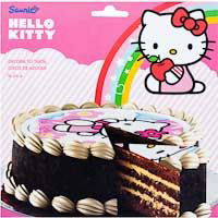 Hello Kitty disco azucar 16 cm de 25g. en sobre