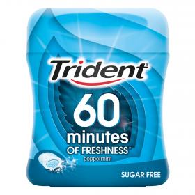 Trident chicle 60 minutos menta box de 80g.