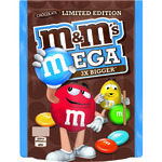 M&m's mega 3x bigger limited edition cacahuetes con chocolate de 187g. en bolsa