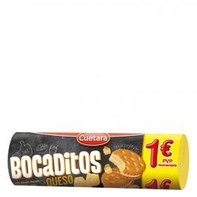 Cuétara Bocaditos bocaditos queso con galleta cracker de 125g.