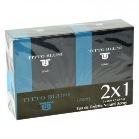 Titto Bluni agua colonia uomo de 75ml.