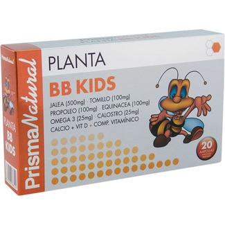 Prisma Natural planta bb kids refuerza defensas niños 20 ampollas de 250g.