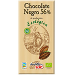 Sole chocolate negro 56% cacao ecologico tableta de 100g.