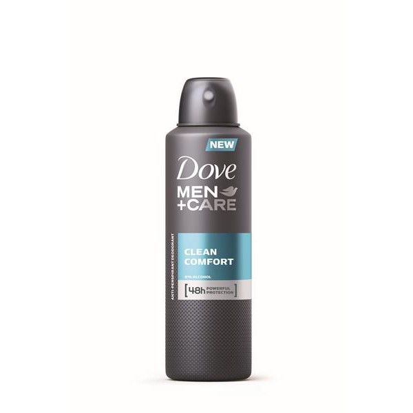Dove desodorante for men clean comfort sin alcohol de 20cl. en spray