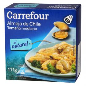 Carrefour almejas chile natural de 63g.