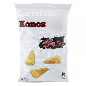 Carrefour konos con sabor queso bacon de 100g.