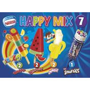 Nestlé surtido helados happy mix de 49ml. por 7 unidades