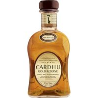 Cardhu whisky gold reserva de 70cl. en botella