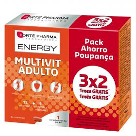 Multivitaminas adulto forté pharma  energy . 84 en comprimidos