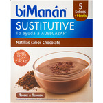 Bimanan sustitutive natillas sabor chocolate 1 gratis 5 en sobre