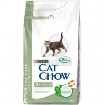 Cat Chow special care sterilized de 15kg. en bolsa