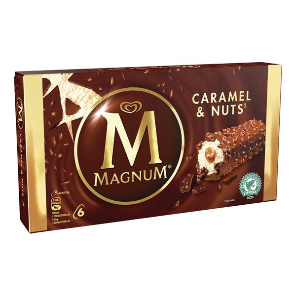 Magnum magnum caramel & nuts bar 64ml 6mp de 38,4cl. por 6 unidades
