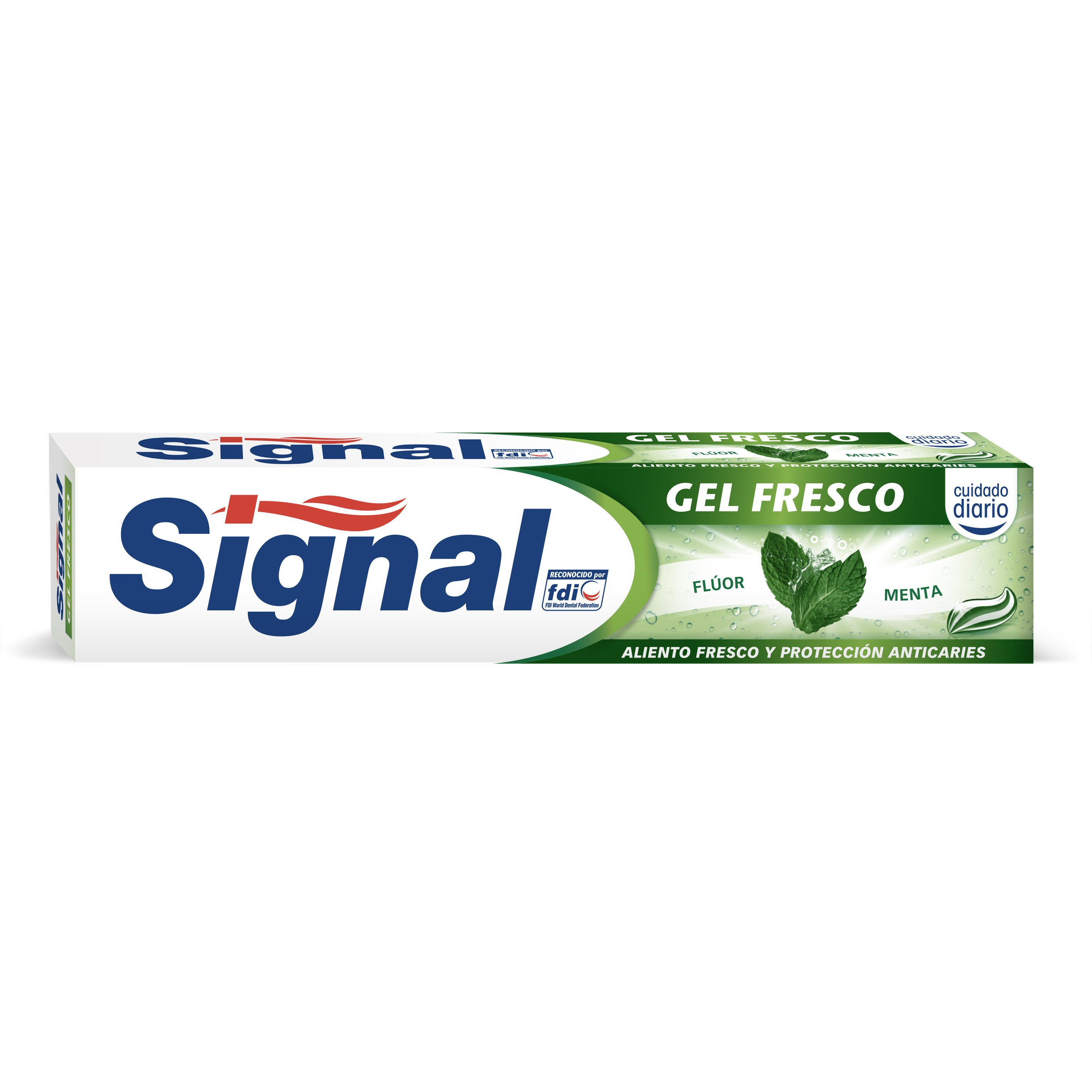 Signal pasta dentifrica en gel action fresco tubo de 75ml.