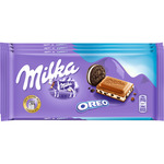 Milka chocolate con galleta oreo tabletas de 100g. por 3 unidades