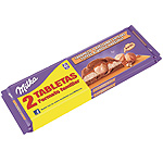 Milka chocolate con caramelo avellana entera tableta de 300g. por 2 unidades en familiar