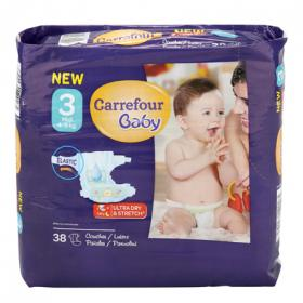 Carrefour Baby pañal t 3 midi 38
