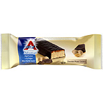 Advantage atkins barrita snacks chocolate cacahuete caramelo envase de 60g.