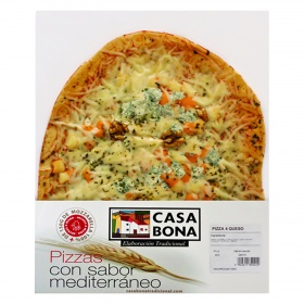 Pizza 4 quesos casa bona de 600g.