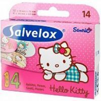 Salvelox apositos hello kitty por 14 unidades en caja