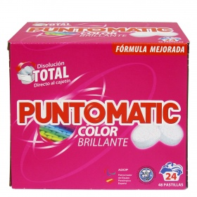 Puntomatic detergente pastillas ropa color 48