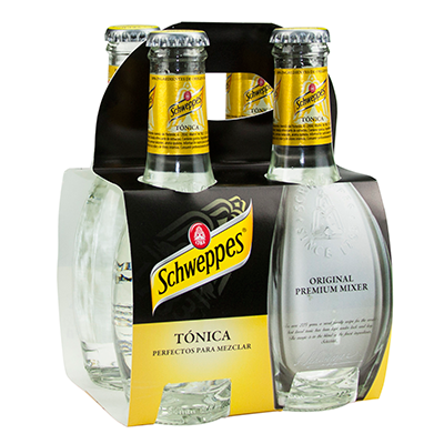 Schweppes tonica original indian tonic de 20cl. por 4 unidades en botella