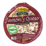 Pronto Pizza pizza jamon queso de 400g.