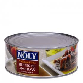 Noly filete anchoas en aceite vegetal de 680g.