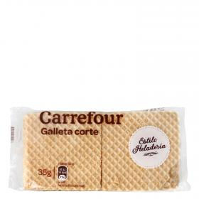 Carrefour oblea barquillo crujiente de 35g.