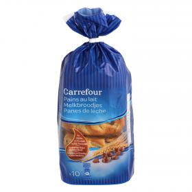 Carrefour pan leche c pepitas chocolate de 350g.