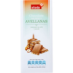 Aliada chocolate con leche avellanas tableta de 150g.
