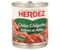 Herdez chiles enteros en adobo de 210g.