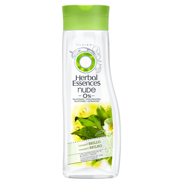 Herbal Essences champu con extracto te blanco menta cabellos apagados de 40cl.