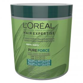 Loreal mascarilla revitalizante pure force cabello dañado quebradizo de 25cl.