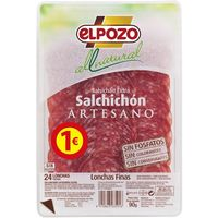 El Pozo salchichon all natural de 80g. en bandeja