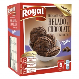 Royal preparado helado chocolate milka de 215g.