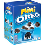 Oreo mini snack packs galletas chocolate rellenas crema estuche de 160g.