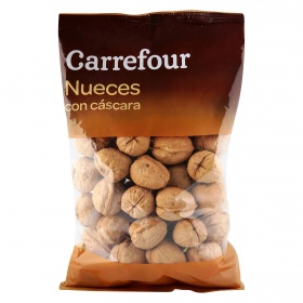 Carrefour nueces con cascara de 650g.