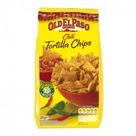 Old El Paso tortilla chips con chili de 200g.