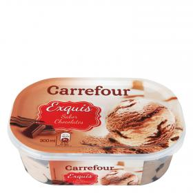 Carrefour helado 3 chocolates de 90cl.