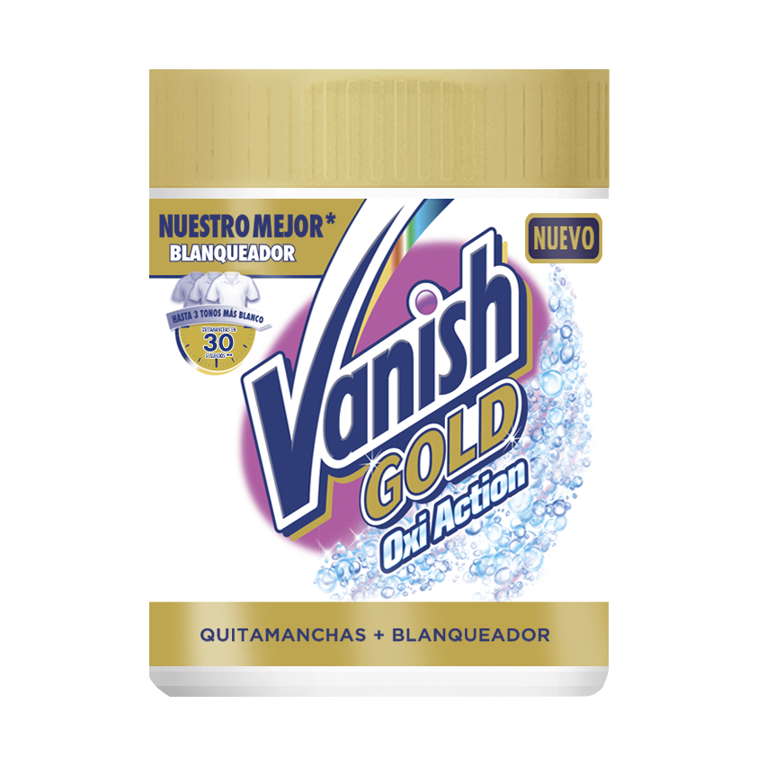 Vanish oxiaction gold wh powder detergente en polvo de 470g.