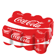 Coca Cola refresco cola mini de 15cl. por 12 unidades en lata