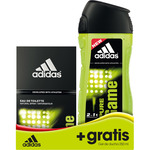 Adidas pure game eau toilette natural masculina gel baño 2 gratis de 50ml. en bote