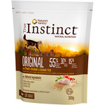 True Instinct original alimento natural gato adulto con pollo arroz envase de 300g.