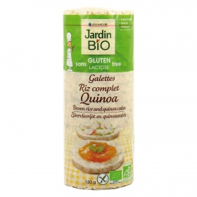 Jardin Bio' galletas arroz integral quinoa de 130g.