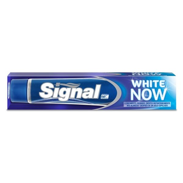 Signal pasta dentifrica white now tubo de 75ml.