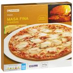 Eroski pizza 4 quesos de 350g.