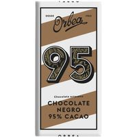 Orbea chocolate negro 95% tableta de 125g.