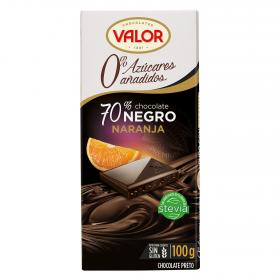 Valor chocolate negro naranja de 100g.
