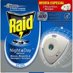 Raid night and day mosquitos tigres comun aparato recambio